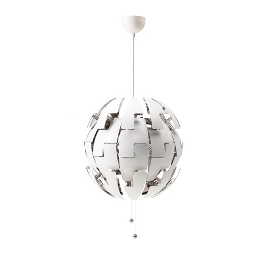 ikea ps 2014 suspension blanc gris argent ikea. Black Bedroom Furniture Sets. Home Design Ideas