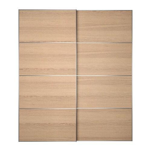 Ilseng portes coulissantes 2 pi ces 200x236 cm amortisseur pour porte cou - Porte coulissantes ikea ...