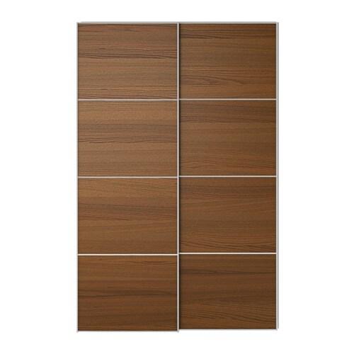 Ilseng portes coulissantes 2 pi ces 150x236 cm amortisseur pour porte cou - Porte coulissantes ikea ...