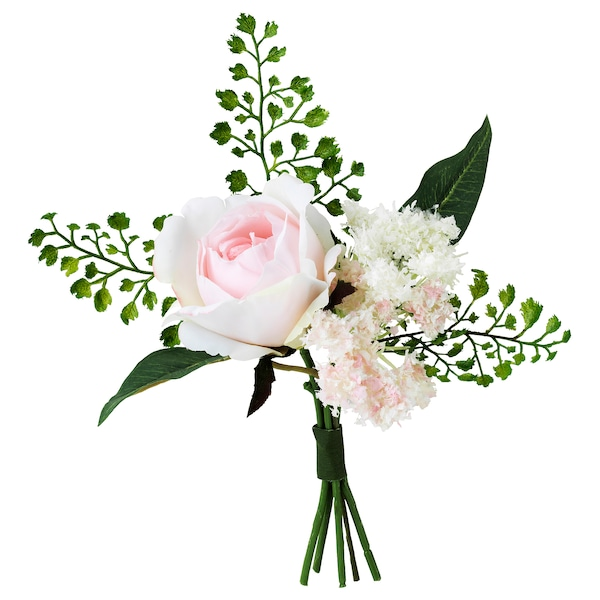 INBJUDEN Bouquet artificiel, rose, 8 ¼ ""