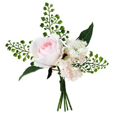 "INBJUDEN Bouquet artificiel, rose, 8 ¼ """