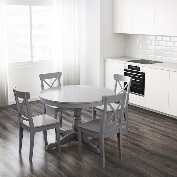 "INGATORP Table à rallonge, gris, 43 1/4/61 """