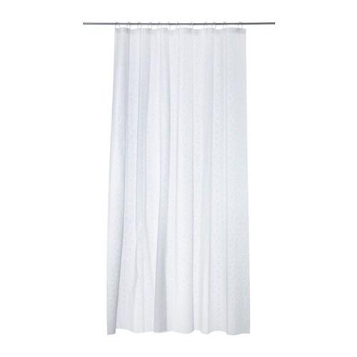 INNAREN Rideau de douche, blanc blanc 180x180 cm