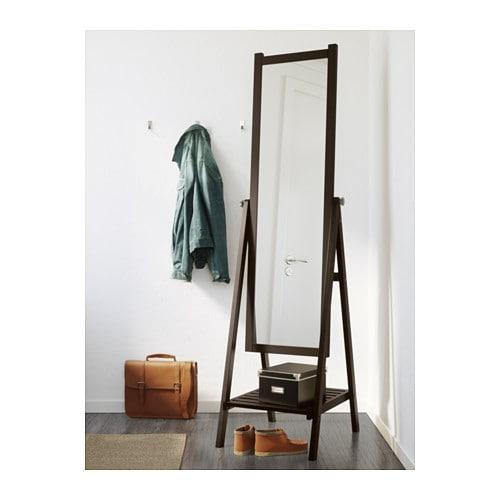 isfjorden miroir sur pied brun noir ikea. Black Bedroom Furniture Sets. Home Design Ideas