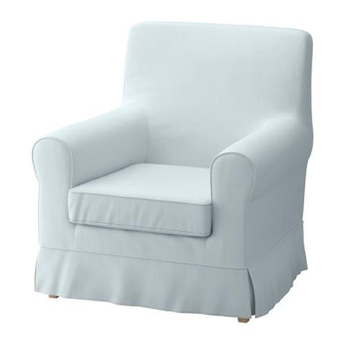 Jennylund fauteuil nordvalla bleu clair ikea for Housse fauteuil ikea
