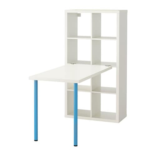 kallax agencement bureau blanc bleu ikea. Black Bedroom Furniture Sets. Home Design Ideas