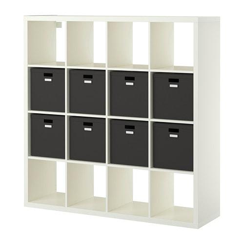 kallax tjena tag re avec 8 accessoires blanc ikea. Black Bedroom Furniture Sets. Home Design Ideas
