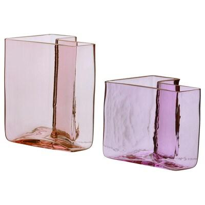 KARISMATISK Vase, 2 pièces, rose
