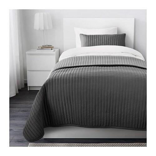 Karit couvre lit et housse de coussin une place deux places ikea - Lit deux places ikea ...