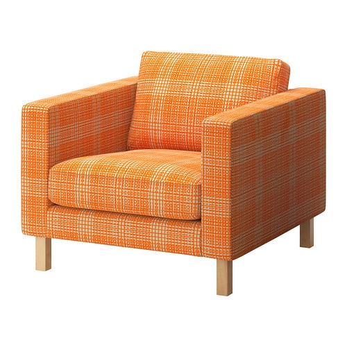 Karlstad fauteuil husie orange ikea for Fauteuil ikea orange