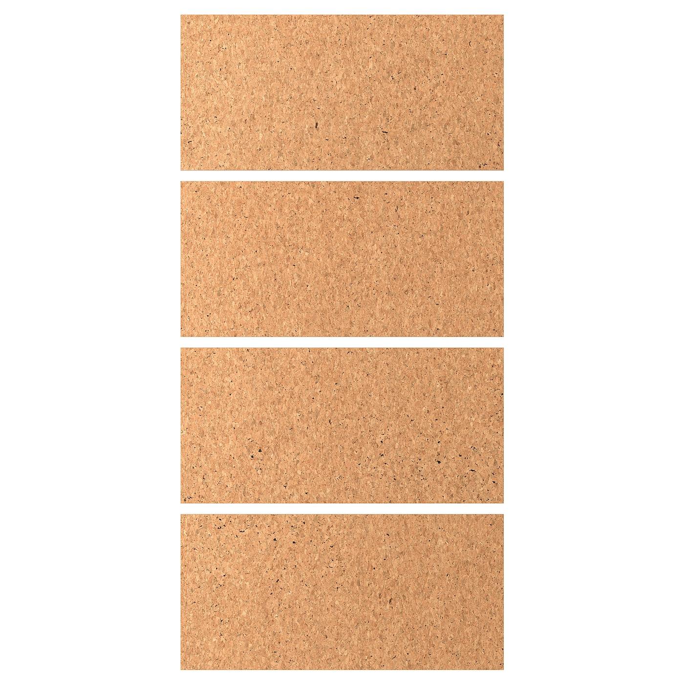 """Panneau En Liège Ikea kirkenes 4 panneaux pr pte coul - placage de liège 39 3/8x79 1/8 """" (100x201  cm)"""