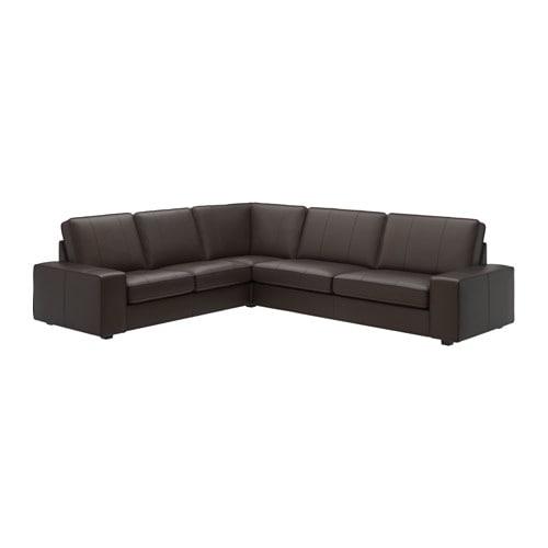 kivik canap d 39 angle 5 places grann bomstad brun fonc ikea. Black Bedroom Furniture Sets. Home Design Ideas