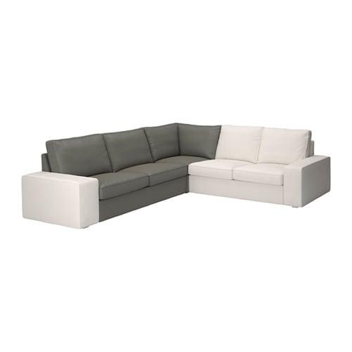 kivik chauffeuse d 39 angle borred gris vert ikea. Black Bedroom Furniture Sets. Home Design Ideas