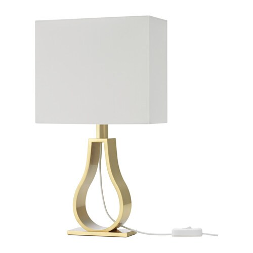 Klabb lampe de table ikea for Lampe de table jaune