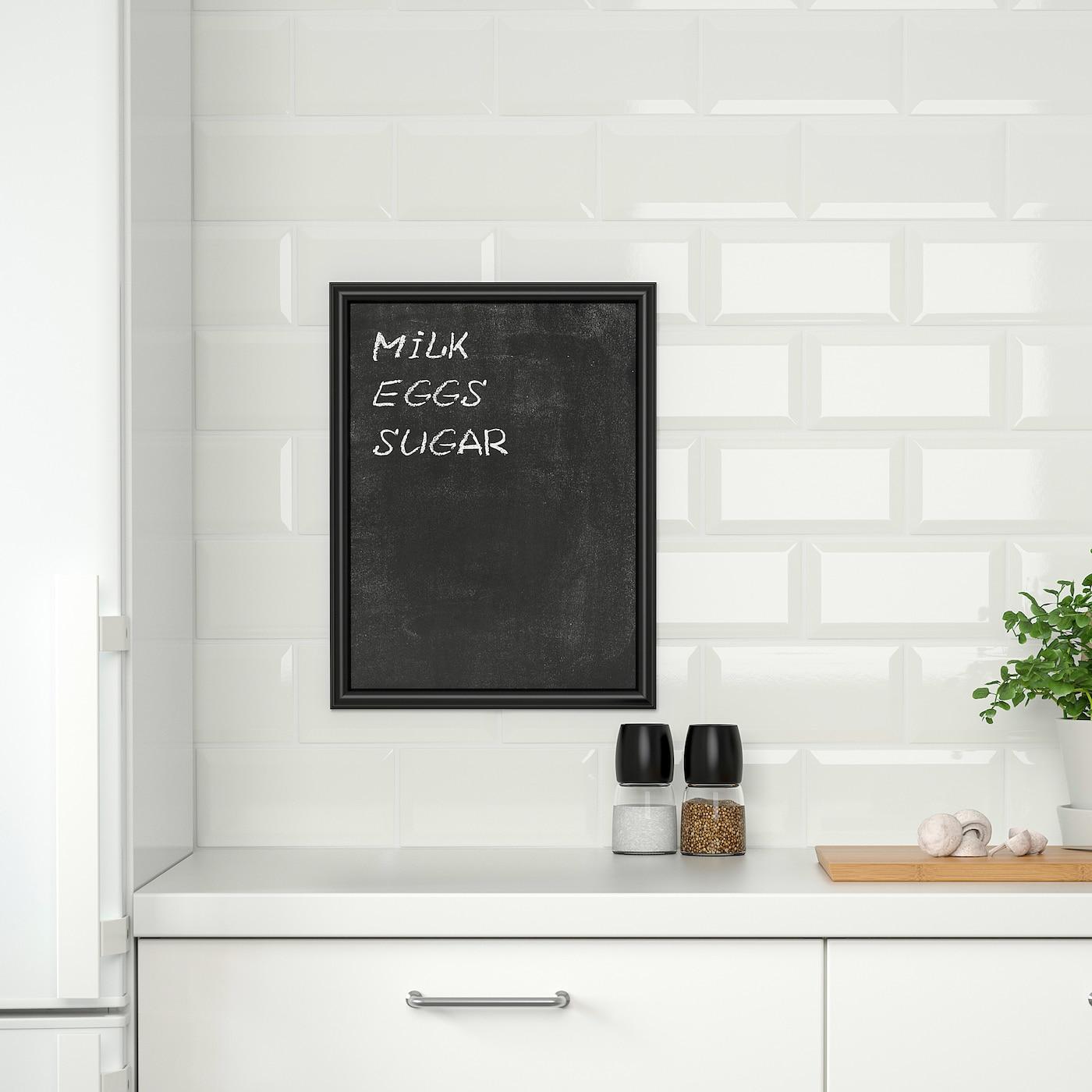 """Tableau Noir Deco Pour Cuisine klÄtta décoration adhésive - tableau noir 19 ¾x13 ¾ """" 2 pièces (50x35 cm 2  pièces)"""