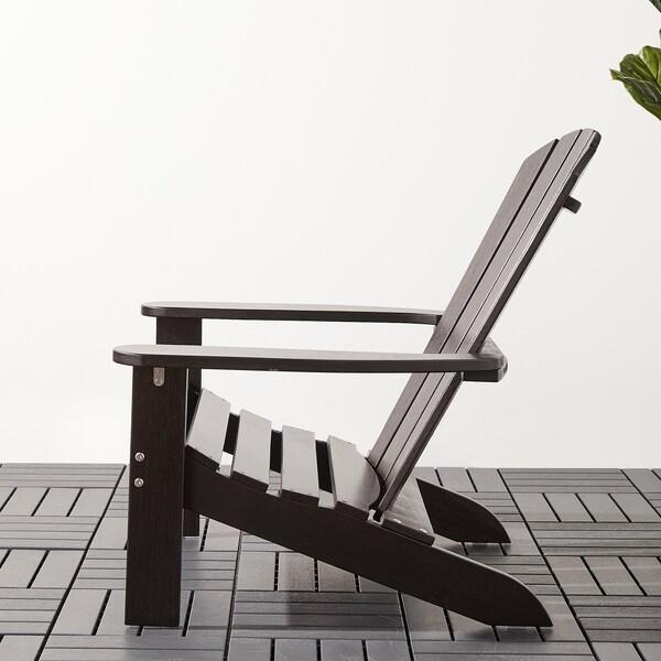 KLÖVEN Chaise longue, extérieur, brun foncé