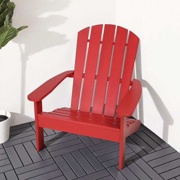 KLÖVEN Chaise longue, extérieur, rouge