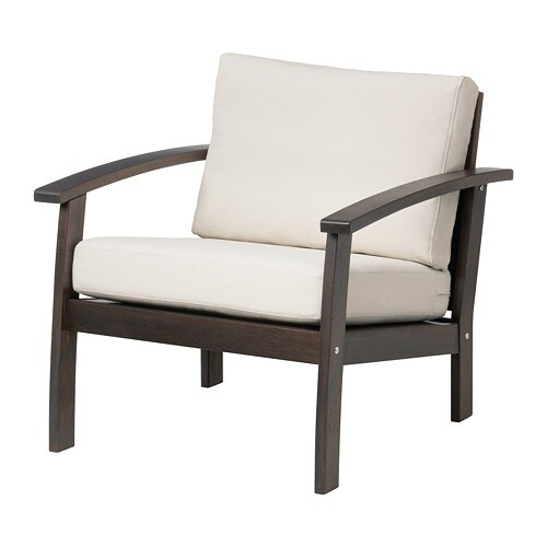 Kl ven fauteuil ext rieur teint brun fr s n duvholmen - Ikea poltrone da giardino ...