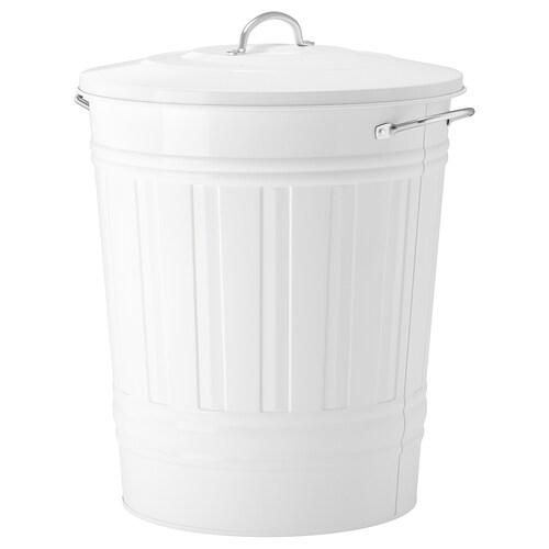 """KNODD poubelle blanc 20 1/8 """" 16 1/8 """" 11 gallon"""
