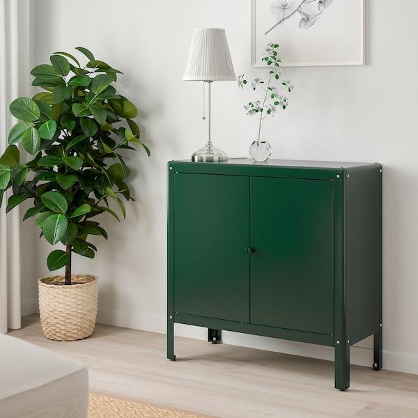 "KOLBJÖRN Élément rangement int/extérieur, vert, 31 1/2x31 7/8 """