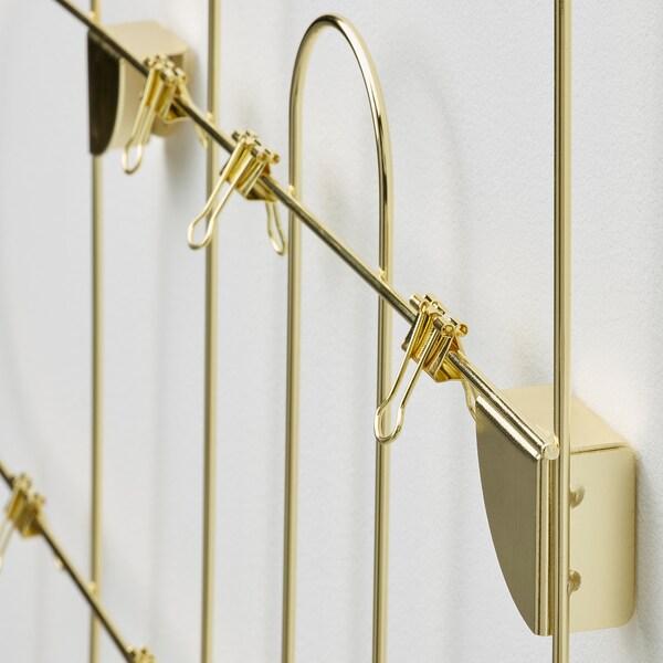 KORSMON Tableau-mémo avec pinces, couleur or
