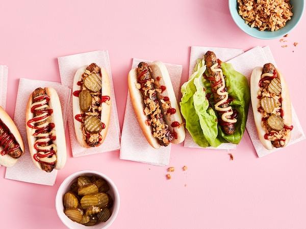 KORVMOJ Hot dog végétarien, surgelé, 1 lb 0 oz