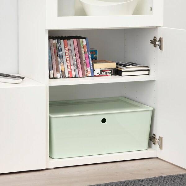 KUGGIS Boîte de rangement avec couvercle, vert clair. IKEA Canada - IKEA