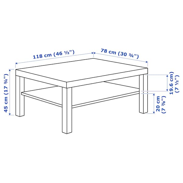 "LACK Table basse, blanc, 46 1/2x30 3/4 """