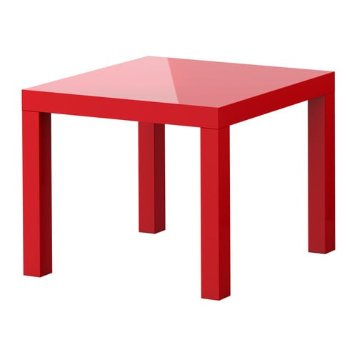 Lack table d 39 appoint ultrabrillant rouge ikea for Tables d appoint ikea