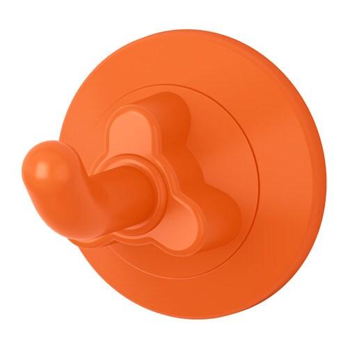 LÅDDAN Crochet à ventouse, orange orange -