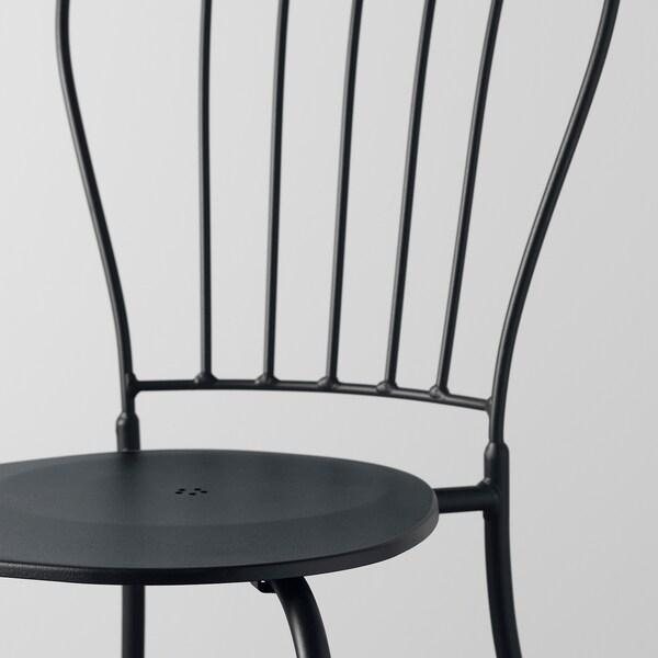 LÄCKÖ Table+2 chaises, extérieur, gris