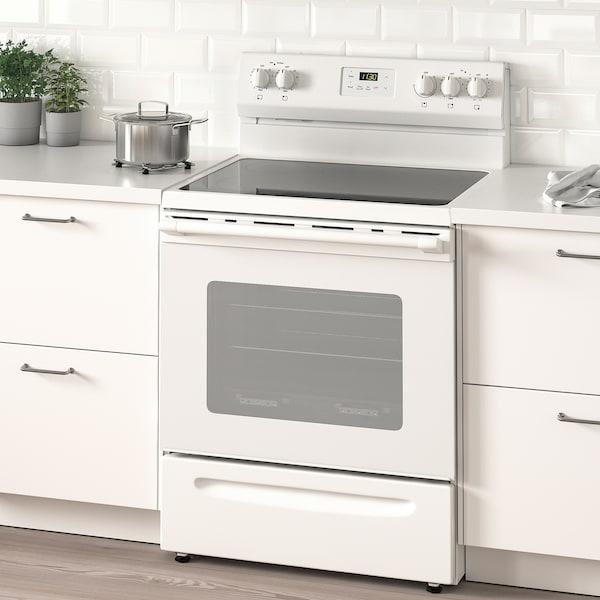 LAGAN Cuisinière à surface vitrocéramique, blanc