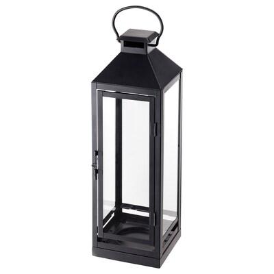 """LAGRAD Lanterne pour bougie-bloc, int/ext, noir, 17 """""""