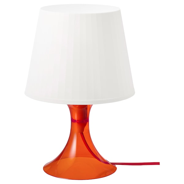 LAMPAN Lampe de table, orange/blanc, 11 ""