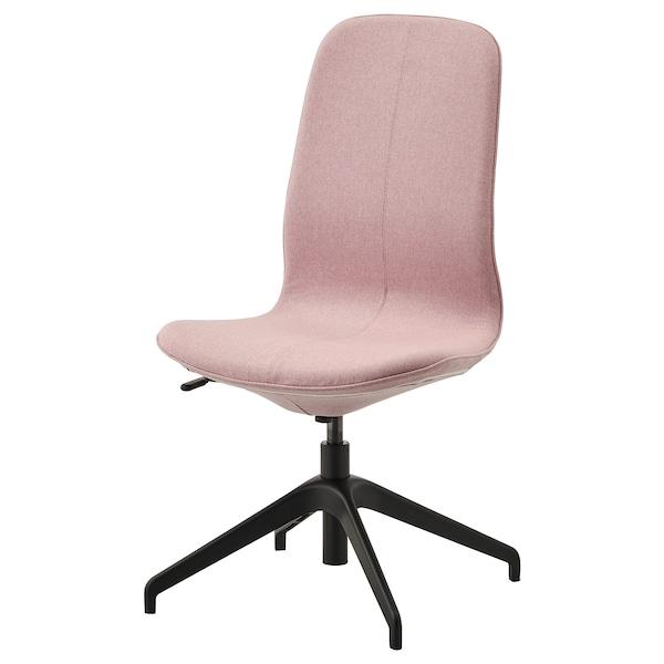 LÅNGFJÄLL Chaise conférence, Gunnared brun-rose clair/noir