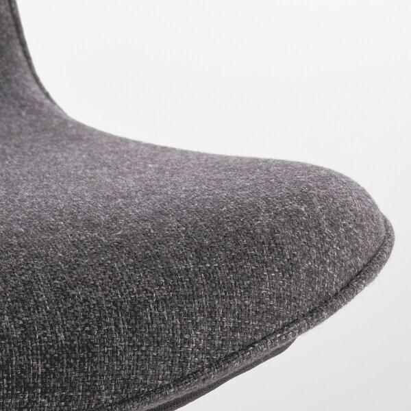 LÅNGFJÄLL Chaise de bureau, Gunnared gris foncé/blanc