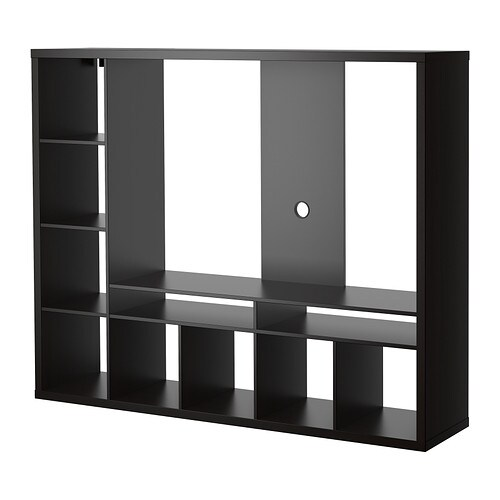 Lappland meuble t l brun noir ikea for Ikea meuble tele