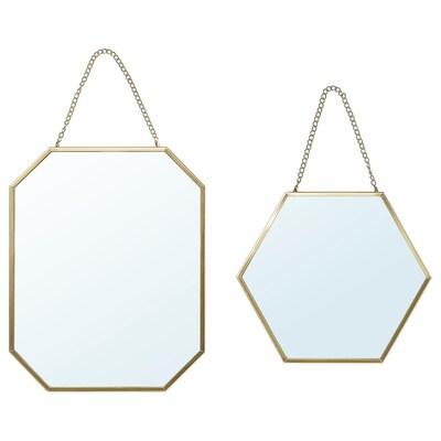 LASSBYN miroir, 2 pièces couleur or