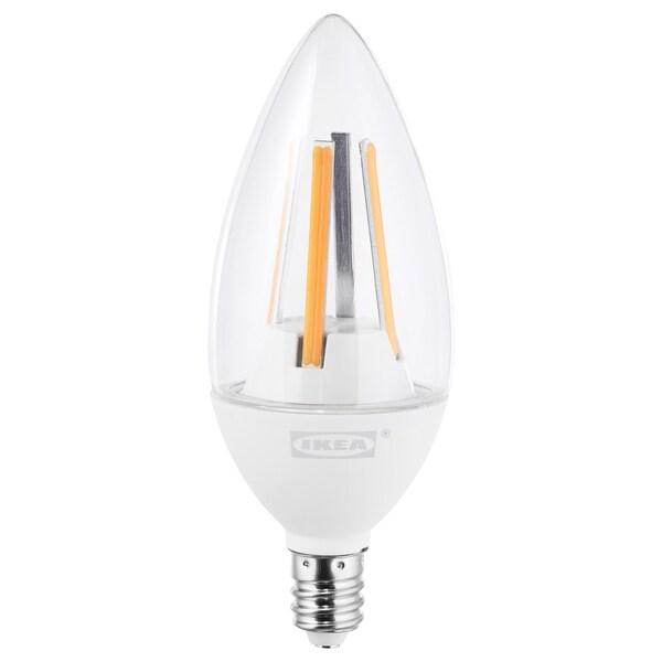 LEDARE Ampoule à DEL E12 400 lumen, lumière chaude/flamme clair