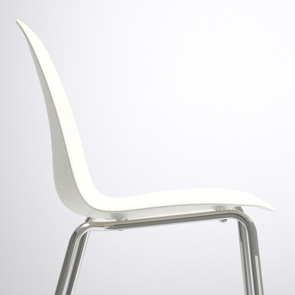 "LEIFARNE chaise blanc/Broringe chromé 243 lb 20 1/2 "" 19 5/8 "" 34 1/4 "" 17 3/4 "" 14 1/8 "" 18 1/8 """
