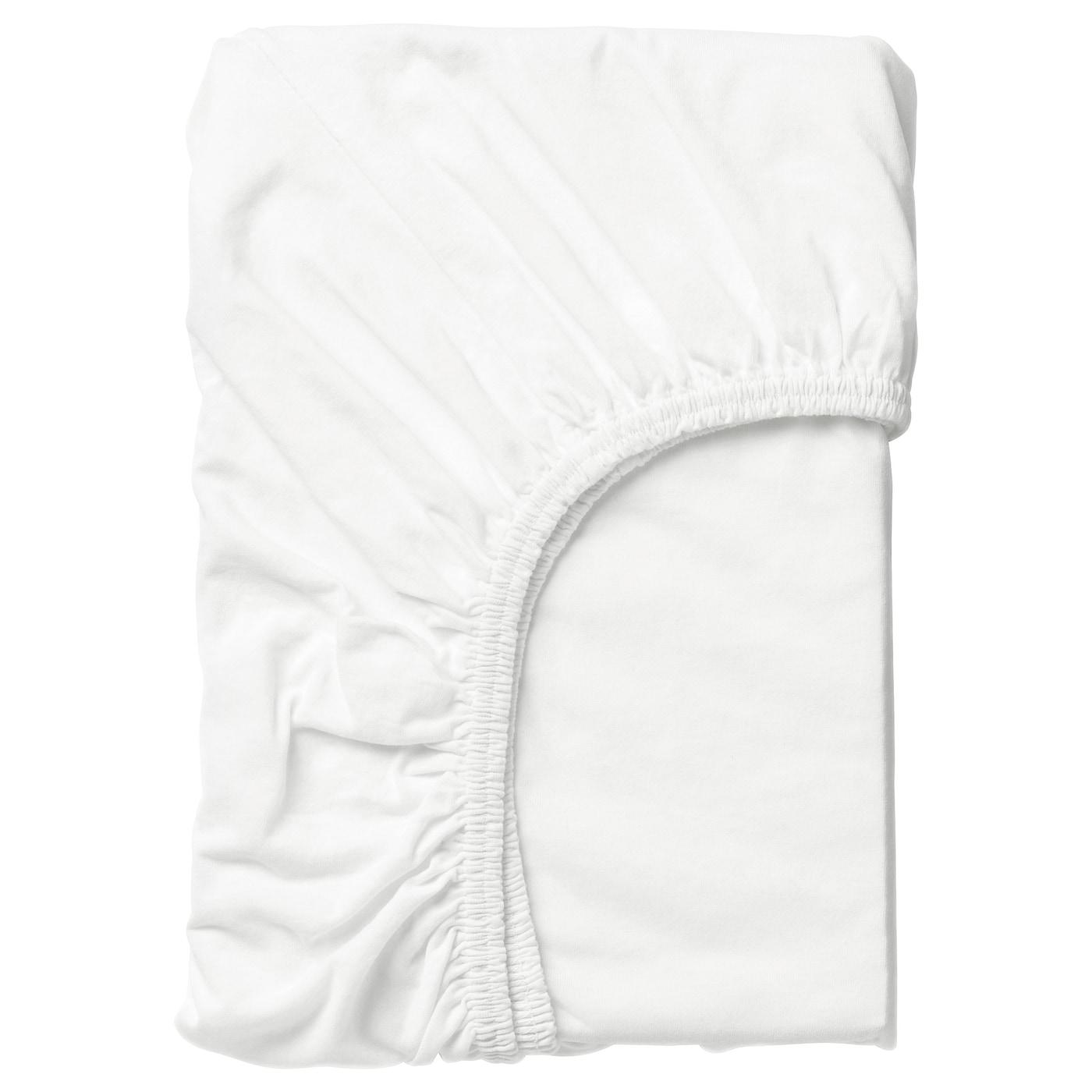 LEN Drap-housse - blanc - IKEA