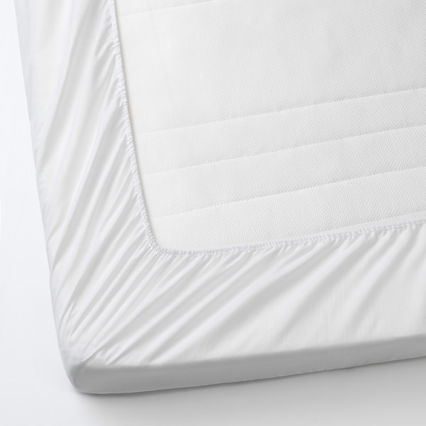 """LENAST Protège-matelas, blanc, 27 1/2x52 """""""