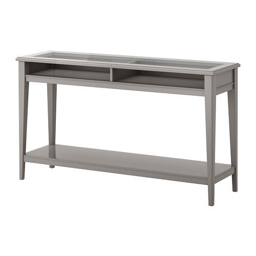 liatorp console gris verre ikea. Black Bedroom Furniture Sets. Home Design Ideas