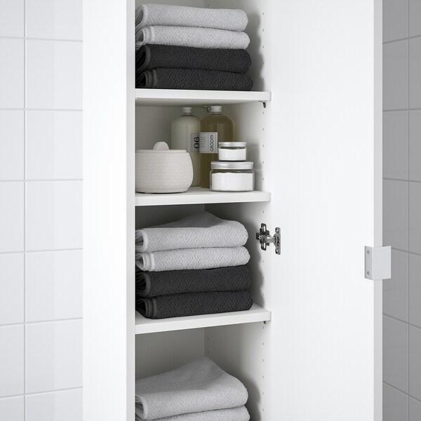 """LILLÅNGEN Armoire haute 1 porte, blanc, 11 3/4x15x76 3/8 """""""