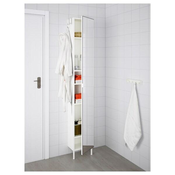 """LILLÅNGEN Armoire haute à porte miroir, blanc, 11 3/4x8 1/4x74 3/8 """""""