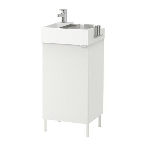 lill ngen meuble lavabo 1 porte blanc blanc 41x41x87 cm ikea. Black Bedroom Furniture Sets. Home Design Ideas