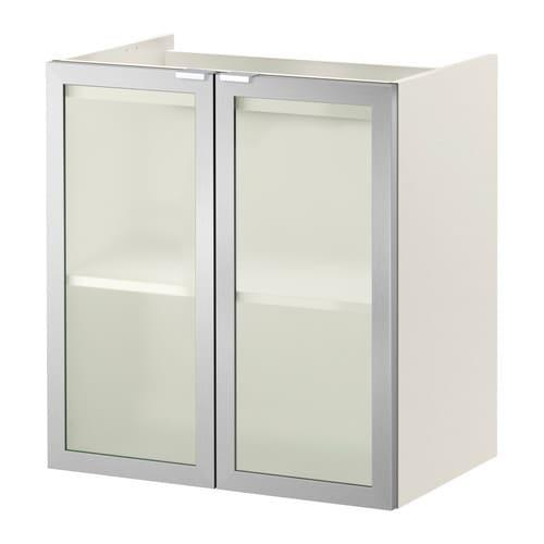 lill ngen meuble pour lavabo 2 portes blanc aluminium 60x38x64 cm ikea. Black Bedroom Furniture Sets. Home Design Ideas