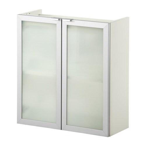 lill ngen meuble pour lavabo 2 portes blanc aluminium 60x25x64 cm ikea. Black Bedroom Furniture Sets. Home Design Ideas