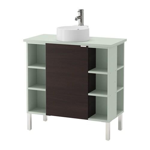 lill ngen viskan gutviken meuble lavabo 1 porte 4 l fin acier inox vert clair 82x40x92 cm. Black Bedroom Furniture Sets. Home Design Ideas