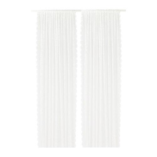 lillyana voilage 2 panneaux ikea. Black Bedroom Furniture Sets. Home Design Ideas